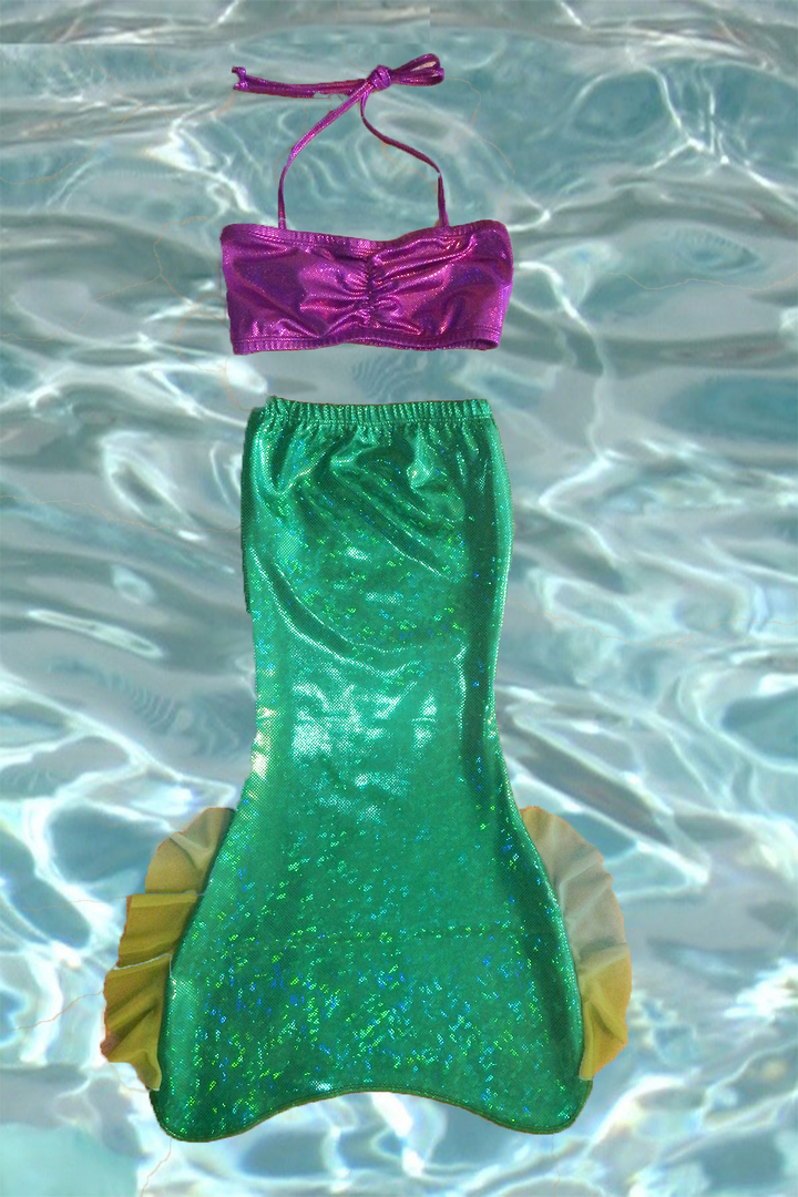 9106d558a3ba Toddler Tail   Bandeau Bikini Top for 3 – 5 years old – Open Bottom ...